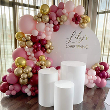 97pcs DIY Balloon Arch Garland Global Hot Pink Chrome Gold Latex Balloons Wedding Birthyday Baby Shower Party Background Decor