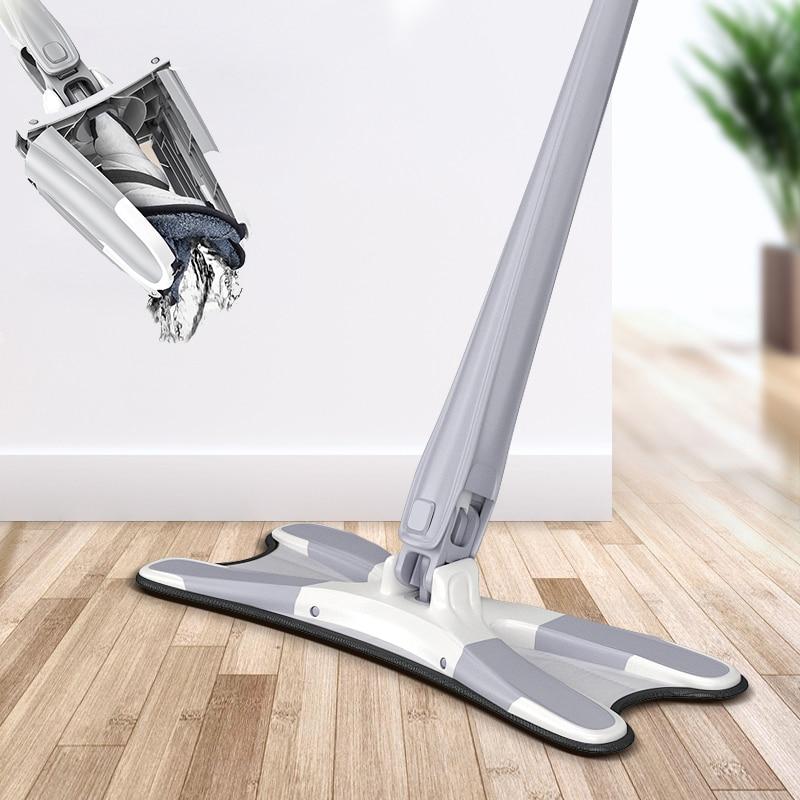 X 형 바닥 3pcs 재사용 패드 360 학위 플랫 집 교체 핸즈프리 세척 가정용 청소 도구-에서대걸레부터 홈 & 가든 의