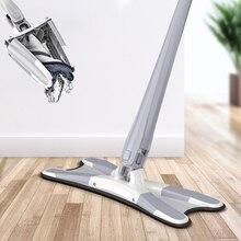 X Type Vloer Mop Met 3Pcs Herbruikbare Microfiber Pads 360 Graden Platte Mop Voor Thuis Vervangen Hand gratis Wassen Household Cleaning Tools