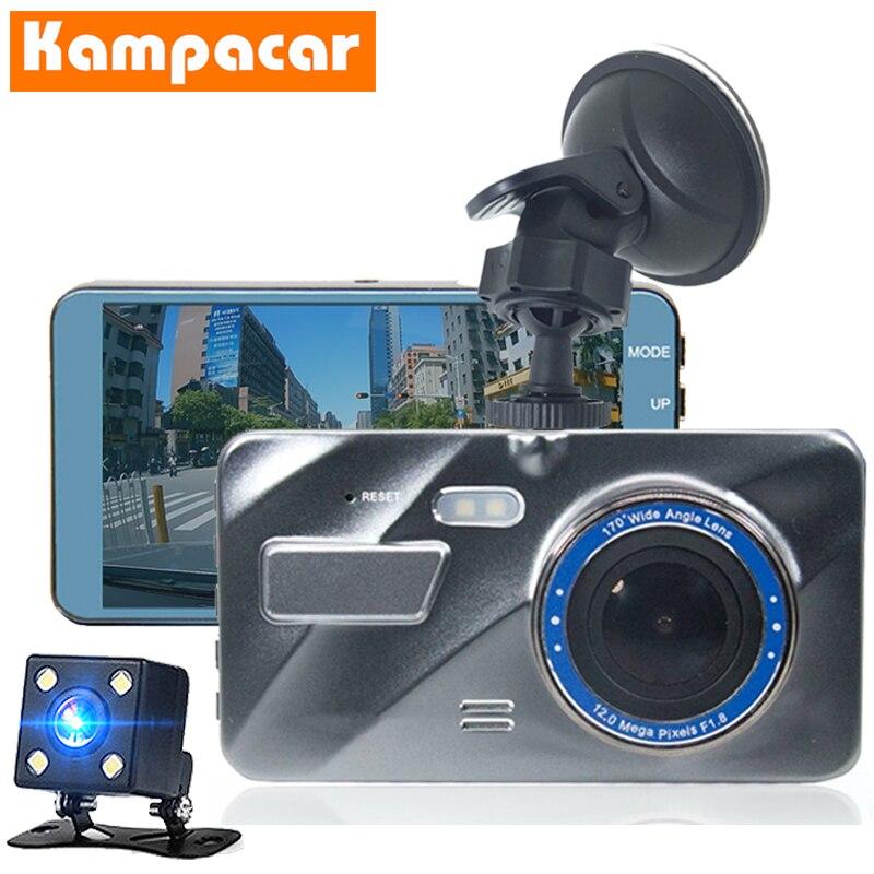 Kampacar HD 1080P Car Auto DVRs Dual Lens Dash Camera Mini Car Dvr With Two Cameras Rear And Front Car Recorder Video Mirror Cam