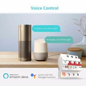 Image 2 - Tuya חכם WiFi מפסק 2P מתג אוטומטי עומס יתר הגנה קצרה Alexa Google בית תואם חכם חיים