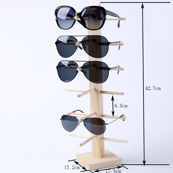 Multi Layers Wood Sunglass Display Rack Shelf Eyeglasses Show Stand Jewelry Holder for Multi Pairs Glasses Showcase image