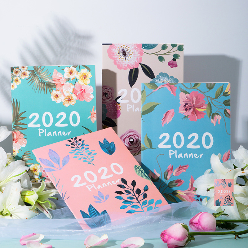 2020 Agenda Planner Organizer A4 Notebook And Journals DIY 365 Days Plan Note  Book Kawaii Monthly Weekly Schedule Writing Book