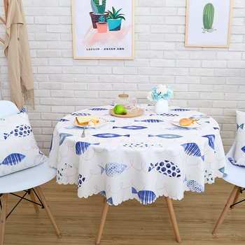 New Fresh Waterproof Round Table Cloth Leaves Plaid Square Rectangle Dining Table Tablecloth Refrigerator Dustproof Cover Tapete Buy At The Price Of 7 79 In Aliexpress Com Imall Com