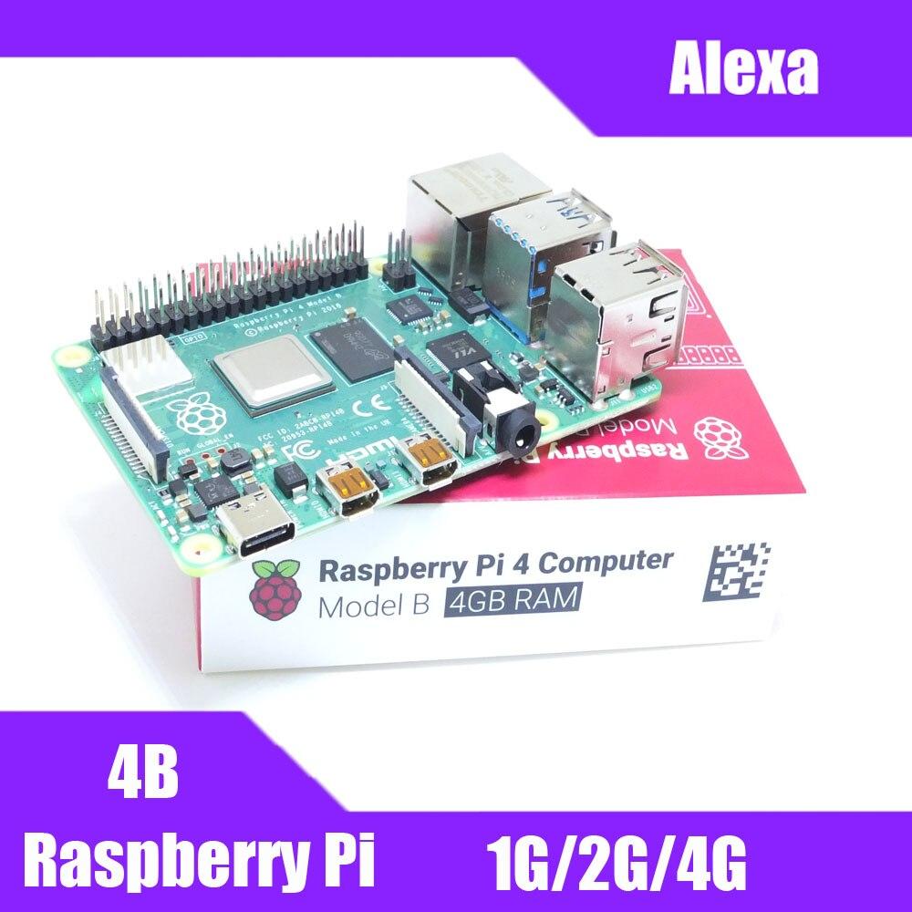 최신 라즈베리 파이 4 모델 b 1/2/4 gb ram bcm2711 쿼드 코어 Cortex-A72 arm v8 1.5 ghz 지원 2.4/5.0 ghz wifi bluetooth 5.0