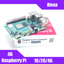 Neueste Raspberry Pi 4 Modell B mit 1/2/4GB RAM BCM2711 Quad core Cortex-A72 ARM v8 1,5 GHz Unterstützung 2,4/5,0 GHz WIFI Bluetooth 5,0