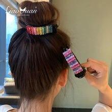 Радужные заколки для волос большие крабы конского хвоста зажимы
