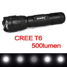 купить SKYWOLFEYE Waterproof T6 LED Flashlight 5 Modes 500 Lumens Torch Light Aluminum Alloy Flashlight Torch Lamp по цене 304.81 рублей