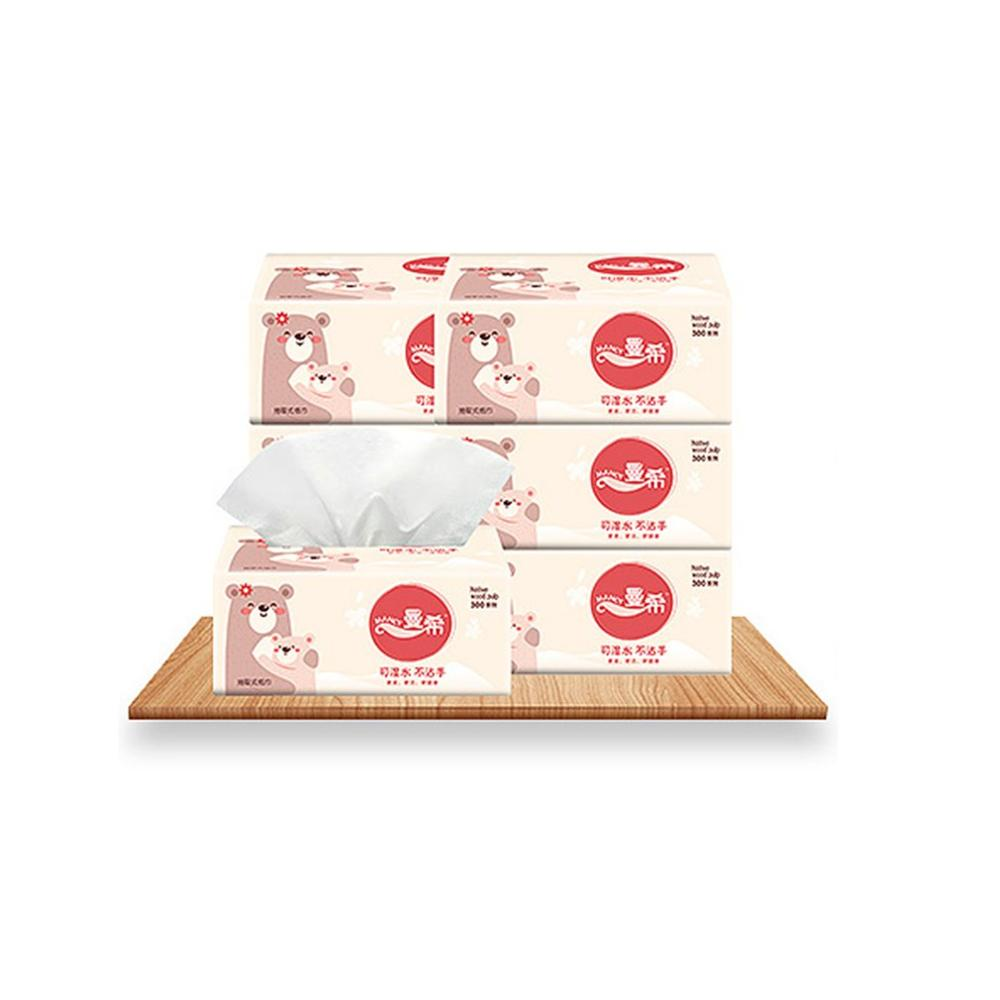 2020 Well Sold Napkin Paper Yellow Bear Advertising Custom Paper Single Paper Pumping Toilet Paper Virgin Pulp Paper 10 Pieces