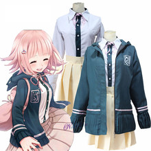 Nanami ChiaKi Costume Danganronpa 2 Cosplay Girl School Uniform Women Sailor Suit Japanese Anime Cosplay Halloween Costume Wigs(China)