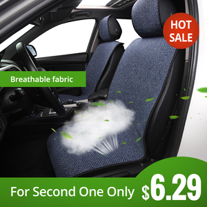 Car Seat Cover Linen Front Seat Cushion Breathable And Comfortable Auto Parts Suitable For All Models