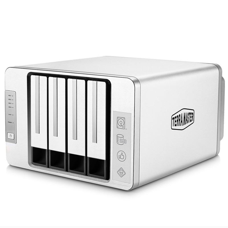 Best Promo 10 Off 4 Bay Nas Case For Small Business Personal Cloud Storage Raid Hdd Enclosure Intel Cpu 64bit System 2gb Memory Support Up To 64tb