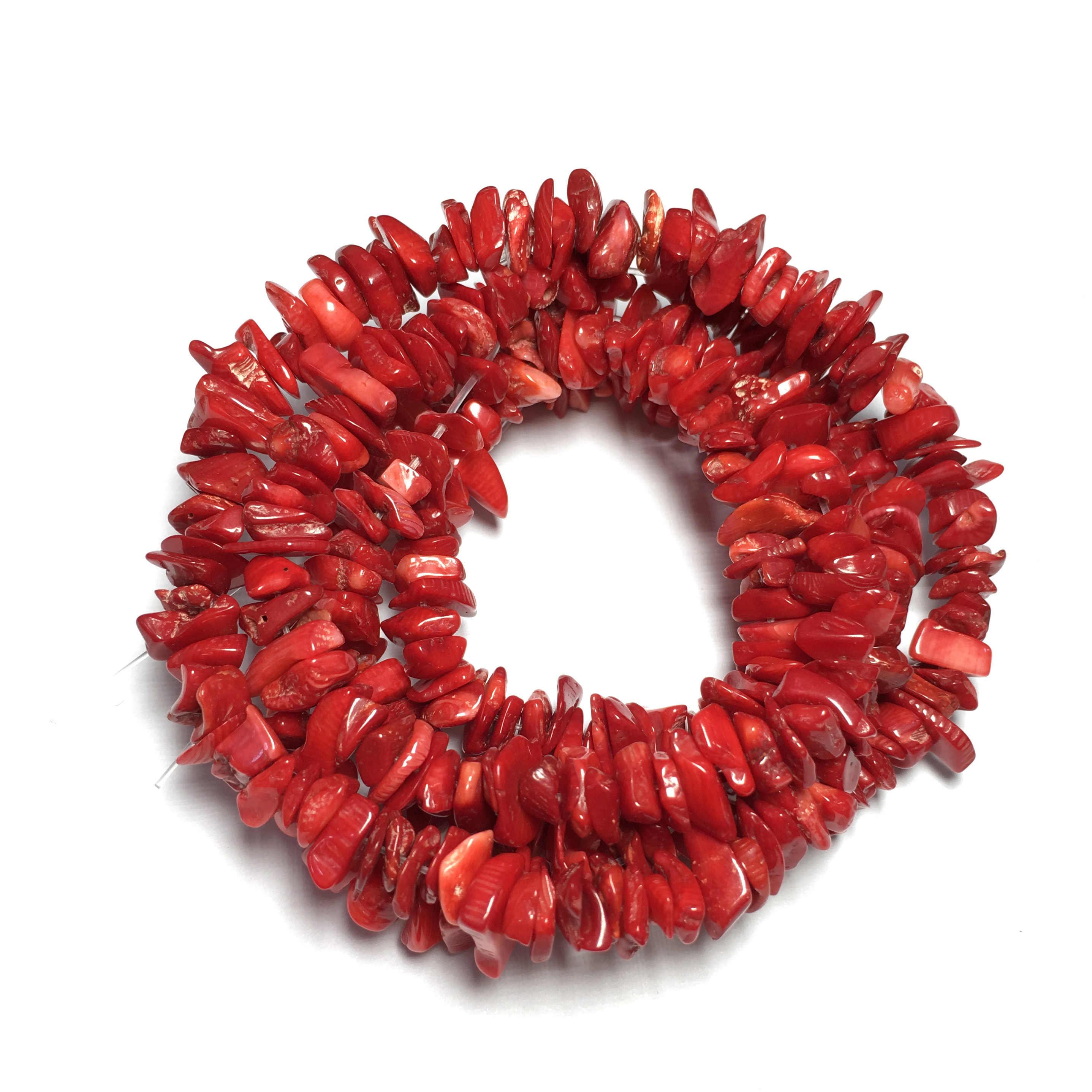 Натуральный камень коралловые бусины гравийная форма свободные бусины Изоляционные Бусины для самостоятельного изготовления ювелирных изделий для браслета ожерелье аксессуары