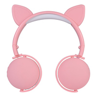 Cute Cartoon Wireless Earphones for Girls Wireless Headphones Bluetooth with Mic Gaming Headset Cat/Antlers/Devil Ears Earphone