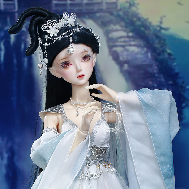 AS Roselle 57cm SD 1/3 Doll BJD New arrival Girl Literary Gift Ball joint Doll And Free slime Eyes toy story