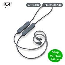 KZ Bluetooth 5.0หูฟังAptx HD CSR8675โมดูลชุดหูฟังสายอัพเกรดขั้วMMCX \ 2PIN AS10 ZST ZSN ZS10 PRO AS16 ZSX C12 ES4