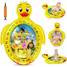 Baby Water Play Mat Kids Inflatable Infant Tummy Time Playmat Toddler for Baby Fun Activity Play Center Baby Toddler Toys tanie tanio YARD Z tworzywa sztucznego 81*61*2cm Unisex Sport duck-watermat keep away from fire Cała 2 cm 0-12 miesięcy 13-24 miesięcy