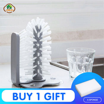 MSJO  Cleaning Brush Cup Bottles Sink Kitchen Accessories Water Scrubber Wine Suction Cleaning Cup Brush Drop Ship Glass Cleaner 2018 hot sale home tools cup brush kitchen rotating water cup new creative suction wall lazy glass tea cup brush cleaning tools