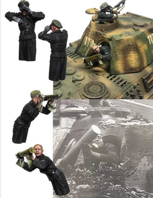1/35 Resin Figures German Tank Crew 2pcs/set (no Tank,gun) Model Kits