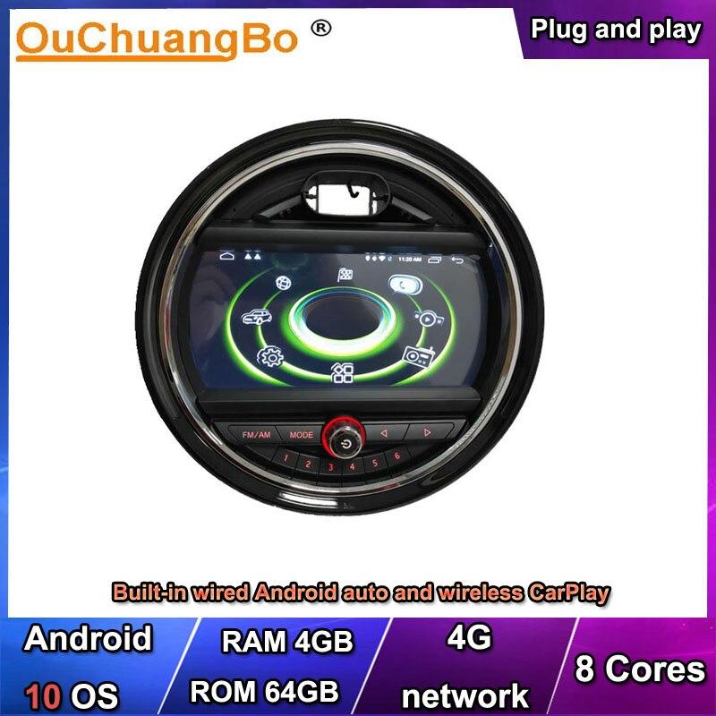 Купить ouchuangbo 4g android 10 аудио gps радио carplay для mini one