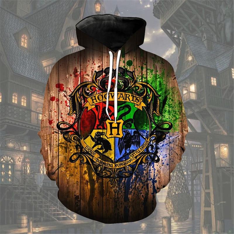 Wizardry Ravenclaw Gryffindor 3D Printed NEW Costume Hoodies Men Hooded Cosplay Sweatshirts Streetwear Casual Tops