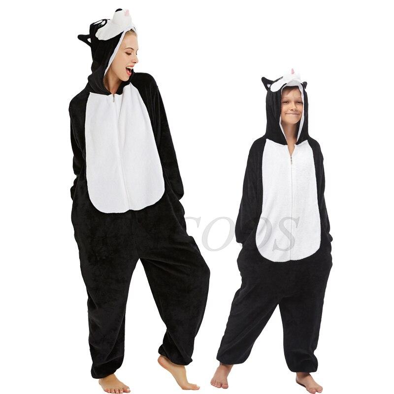 Mãe filha cosplay sleepwear bebê meninos tigre