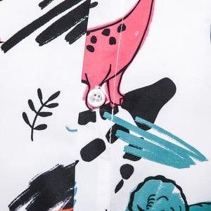 Image 3 - 재미 있은 동물 인쇄 할로윈 셔츠 남자 2019 가을 새로운 긴 소매 슬림 맞는 셔츠 망 파티 휴일 revel camisa masculina 2xl