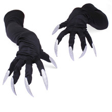 Halloween  Nails Claw Cosplay Long Fingernail Glove Costume Accessory Terrorist Props DIY Decor