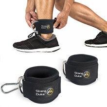 Nuovi cinturini alla caviglia Fitness imbottiti con doppio anello a D cinturino regolabile per la protezione della caviglia rapitori dell'anca allenamento in palestra per le gambe
