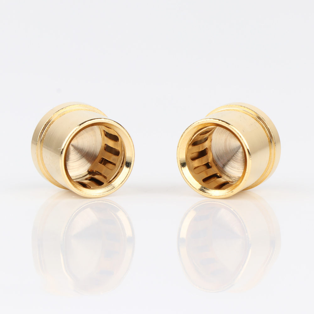 High Quality 12PCS RCA Cap, Protector 24k Gold Plated Noise Shielding Caps Socket