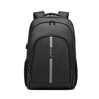 Kono Fashion Large Capacity Laptop Usb Backpack Waterproof and Durable Men Backbag for Travel Business and Leisure 1