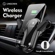 10W Qi Sem Fio Car Charger Suporte para iPhone XS X 8 Carregamento Rápido Para Xiaomi Samsung do Telefone do carro Carregador