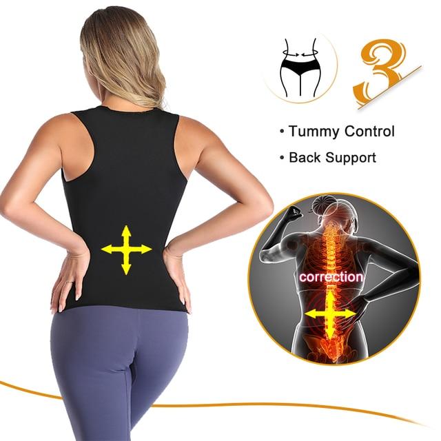 Sweat Waist Trainer Corset Slimming Vest Neoprene Body Shaper Cincher Workout Tank Tops Weight Loss Sauna Vest Belt Fat Burner 4