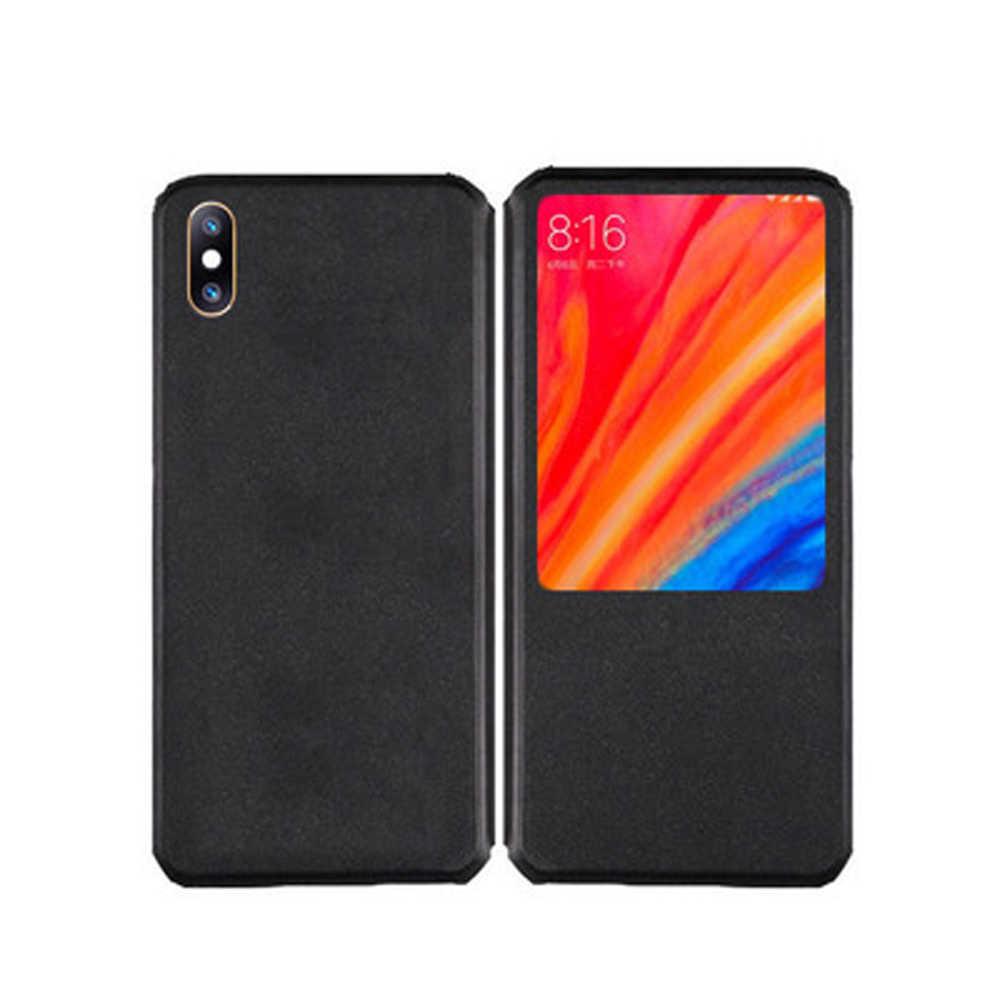 Чехол для телефона из искусственной кожи для OPPO Realme XT флип-чехол для OPPO Realme XT X2 Чехол-книжка с окошком для просмотра Мягкий ТПУ силиконовый чехол-накладка