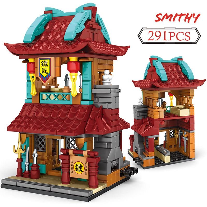SEMBO Block Creator Classic Architecture Tavern Smithy Shop