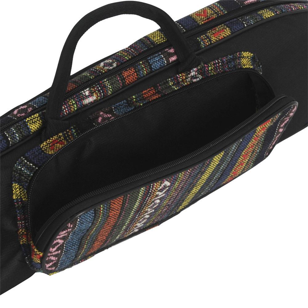 Портативный Национальный Стиль труба сумка водонепроницаемый Оксфорд мягкий хлопок ручка для переноски сумки чехол двойной молнии с передним карманом