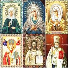 Алмазная вышивка Huacan, религия, иконы, «сделай сам», вышивка крестиком, алмазная живопись, Дева Мария стразы, квадратный полный набор мозаики