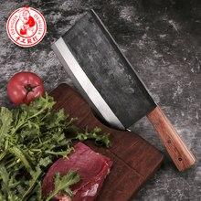 Dengjia nóż wysokiej jakości ręcznie kute ostrze chiński nóż szefa kuchni tasak warzywny nóż kuchenny ze stali węglowej do gotowania
