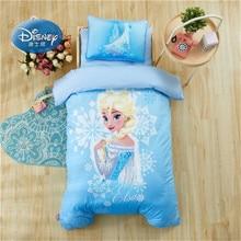 Комплект постельного белья с изображением принцесс Эльзы и Микки Мауса из мультфильма «Холодное сердце» для детской кроватки, 3 предмета, пододеяльник, простыня для маленьких мальчиков и девочек, 0,6 м