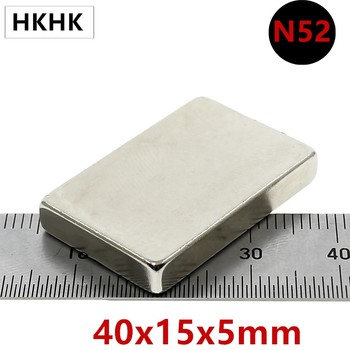 10/20PC N52 40x15x5 mm Super Strong Sheet Rare Earth Magnet Thickness 5mm Block Rectangular Neodymium Magnets 40mm x 15mm x 5mm 10 20pcs n52 40x10x4 mm super strong sheet rare earth magnet thickness 4mm block rectangular neodymium magnets 40mmx10mmx4mm