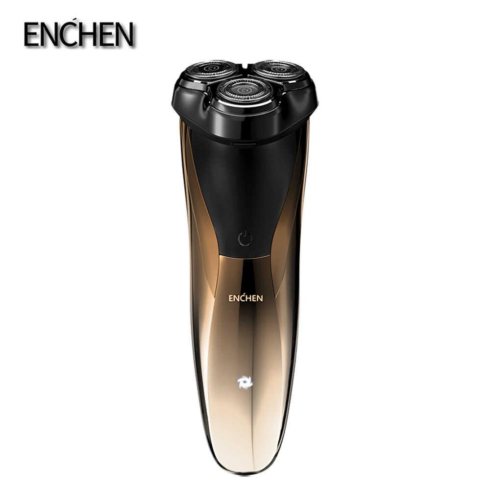 Enchen Blackstone 3CJ elektrikli traş makineleri tıraş makinesi sakal  RazorsTriple bıçakları saç düzeltici şarj edilebilir erkek yüz|Elektrikli Traş  Makineleri
