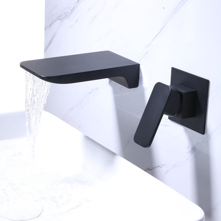 Cascade bec bassin robinets double trou étendu lavabo évier mélangeur grue mitigeur salle de bain lavabo mitigeur
