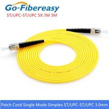 10pcs Simplex Fiber Optische patch Cord ST UPC ST UPC Single mode Fiber Optische jumper kabel 3.0mm3M ST ST Glasvezel patch Cord