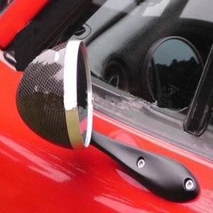 Image 5 - Ретро серебряный корпус гоночный дрейфующий раллийный зеркальный чехол с синим стеклом зеркало заднего вида подходит для Foreste two pc