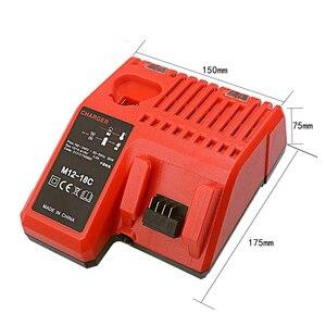 Image 5 - M12 18C Li Ion Battery Charger per Milwaukee 12 V 14.4V 18V C1418C 48 11 1815/1828/1840 m18 M14 M12 Batteria Al Litio