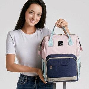 Image 2 - Рюкзак для мам LEQUEEN, модная Вместительная дорожная сумка для подгузников, дизайнерский, для ухода за детьми