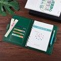 2020 DELL'UNITÀ di elaborazione di affari ufficio riunione Notebook 6 Fori linea Diario Sciolto Foglia Binder Spiral Notepad Agenda logo Personalizzato Regalo box