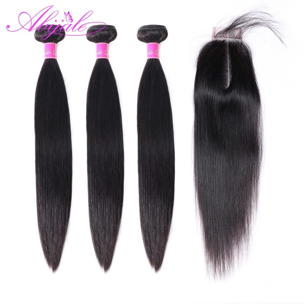 Abijale 3 пучка волос с застежкой 2*6 бразильские пучки волос с застежкой человеческие пучки волос с застежкой Remy