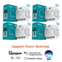 SONOFF-듀얼 R3 2 Gang DualR3 릴레이 모듈, DIY 미니 스마트 스위치 eWeLink Alexa Google Smart Home Siri 를 통한 전원 계량 제어