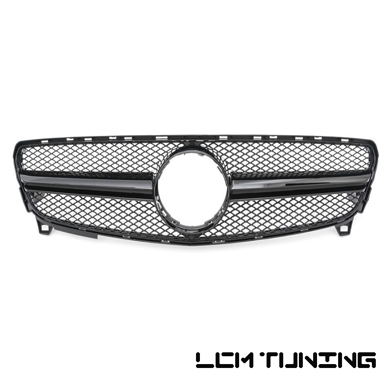 for AMG Look Front Bumper Racing Grille For Mercedes For Benz A-class W176 A160 A180 <font><b>A200</b></font> A250 A45 2016-2018 with Emblem image